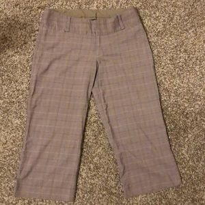 Brown Pinstripe Capris